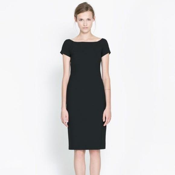 bd546cf9 Zara Dresses   Black Boatneck Sheath Shift Dress Xs   Poshmark
